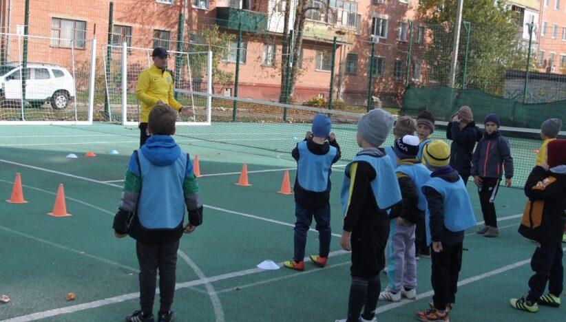 Тренування наймолодших вихованців академії