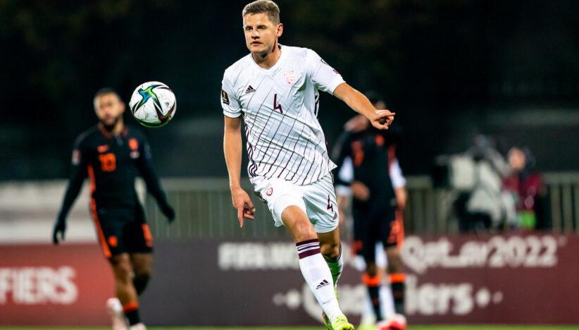 Каспарс Дубра зіграв за збірну Латвії